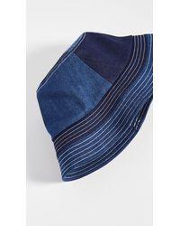 STAUD Denim Bucket Hat - Blue