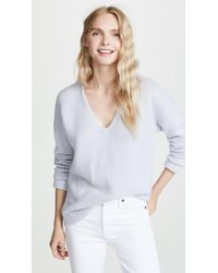 Theory - Relaxed V Neck Pullover - Lyst
