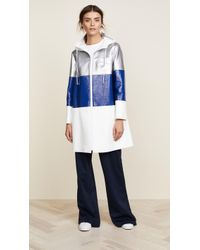 Courreges - Three Bands Hooded Coat - Lyst