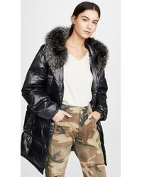 Army by Yves Salomon - Nylon Jacket With Fur - Lyst
