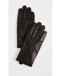 Club Monaco - Claudia Tech Leather Gloves - Lyst
