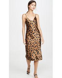 L'Agence - Jodie V Neck Slip Dress - Lyst