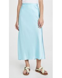 Rosetta Getty Bias Midi Skirt - Blue