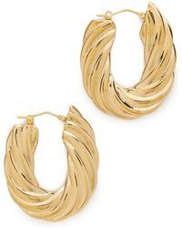 Soave Oro | Flat Twisted Earrings | Lyst