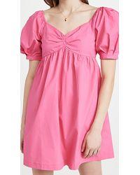 English Factory Puff Sleeve Babydoll Dress - Pink