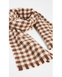 Hat Attack The Check Scarf - Brown