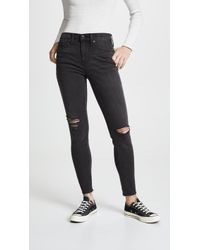 Madewell High Rise Skinny Jeans - Black