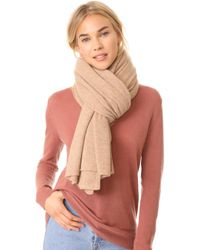 White + Warren Cashmere Travel Wrap Scarf - Natural