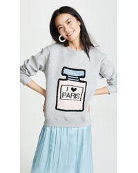 Michaela Buerger I Love Paris Sweatshirt - Gray