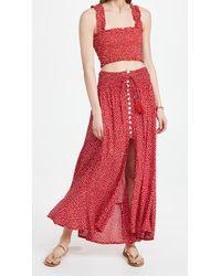 Tiare Hawaii Angie Top With Dakota Skirt Set - Red