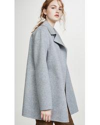 Theory Overlay Df Coat - Gray