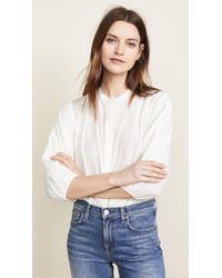7 For All Mankind - Pleated Top - Lyst