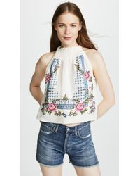Free People - Honey Pie Embellished Tank Top - Lyst
