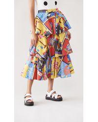 Stella Jean Multicolor Skirt