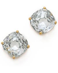 Kate Spade Small Square Stud Earrings - Metallic