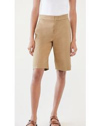 Vince Wide Leg Shorts - Natural