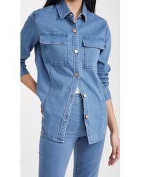 J Brand Relaxed Shirt Jacket - Blue