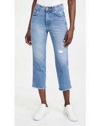 Wrangler High Rise Straight Heritage Jeans - Blue