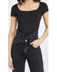 Yummie By Heather Thomson - Anette Square Neck Thong Bodysuit - Lyst