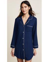 Eberjey Gisele Sleep Shirt - Blue