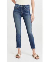 Nili Lotan Mid Rise Jeans - Blue