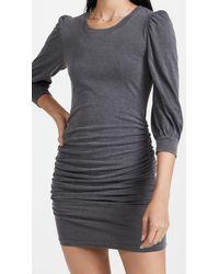 Sundry Puff Sleeve Mini Dress - Grey