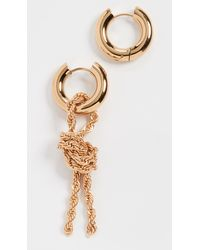 Timeless Pearly Gold Chain Hoops - Metallic