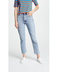 Agolde - Riley High Rise Cropped Jeans - Lyst
