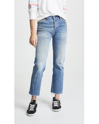RE/DONE - High Rise Stove Pipe Jeans - Lyst