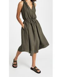 Velvet Julietta Dress - Green