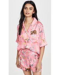 Karen Mabon Circus Shorts Pyjama Set - Pink