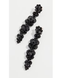 Simone Rocha Cluster Drip Earrings - Black