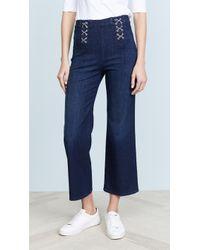 J Brand - Laced Joan Crop Jeans - Lyst