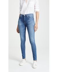 Hudson Jeans Barbara High Waist Skinny Jeans - Blue