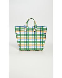 PAMELA MUNSON Mad About Plaid Tote - Green