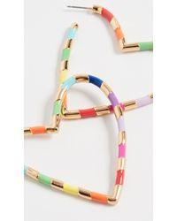 BaubleBar Annaelle Heart Hoop Earrings - Metallic
