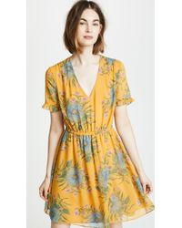 Madewell - Sweetgrass Ruffle Sleeve Dress In Painted Blooms - Lyst