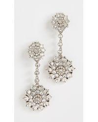 Oscar de la Renta Classic Jewelled Drop Earrings - Metallic