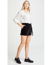 Alice + Olivia - Laurine Paper Bag Shorts - Lyst