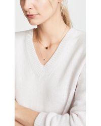 Alison Lou 14k Sapphire And Diamond Tiny Necklace - Pink