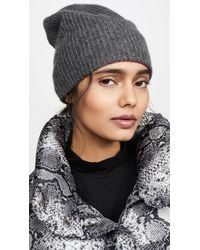 White + Warren Reversible Cashmere Plush Rib Beanie - Gray