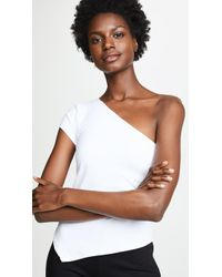 Susana Monaco One Shoulder Top - White