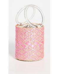 Poolside Mixed Media Bucket - Pink