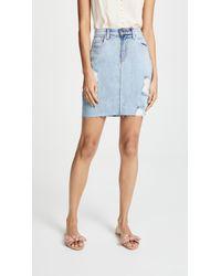 L'Agence - Manuela High Rise Skirt - Lyst