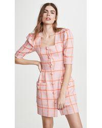 Smythe Boucle Mini Dress - Pink