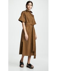 Vince Utility Shirtdress - Brown