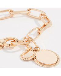 Rebecca Minkoff - Medallion Link Bracelet - Lyst