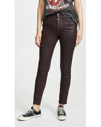 PAIGE Hoxton Slim Jeans With Exposed Buttons - Black
