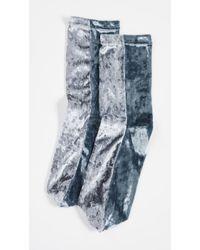 Free People - Colorblock Velour Socks - Lyst