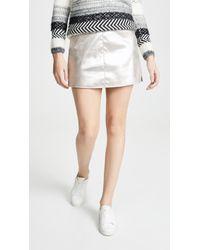 Cupcakes And Cashmere Keller Foiled Faux Suede A-line Skirt - Multicolour